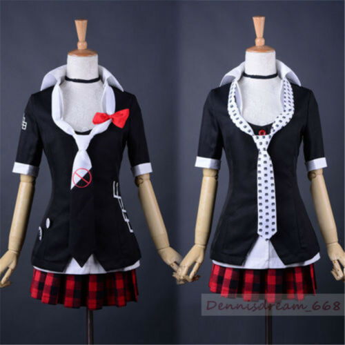 Anime Danganronpa Dangan-Ronpa Junko Enoshima Cosplay Costume Full Set S-XL