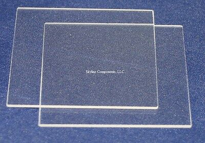 Fused quartz glass plate, 50mm x 50mm x 1mm, 2 pieces, Free Shipping