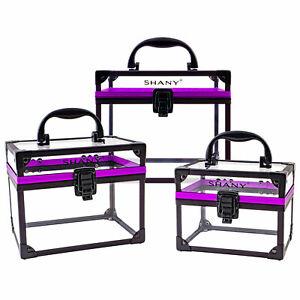 SHANY-Extra-Large-Clear-Cosmetics-and-Toiletry-Train-Cases-with-Secure-Closure