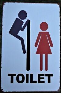 Toilet retro vintage poster metal tin sign cafe pub garage kitchen bathroom