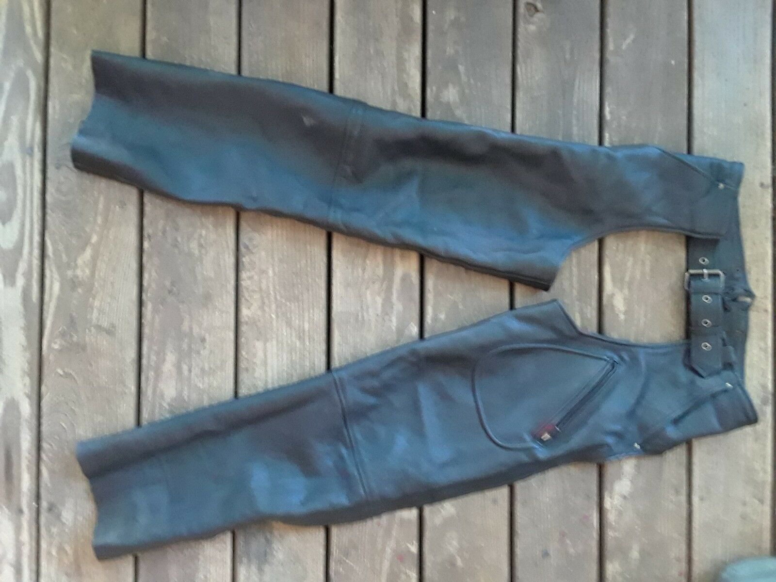 Milwaukee Clothing CO. Leather Chaps Mens Medium   shop clearance