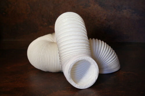 6m Abluftschlauch für Dunstabzugshauben Dm 150mm + 2 Schellen PVC weiß Küche Bad