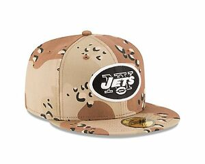 New Era 59FIFTY New York NY Jets Fitted Hat Camouflage Desert Camo 7 ... 54eaed985