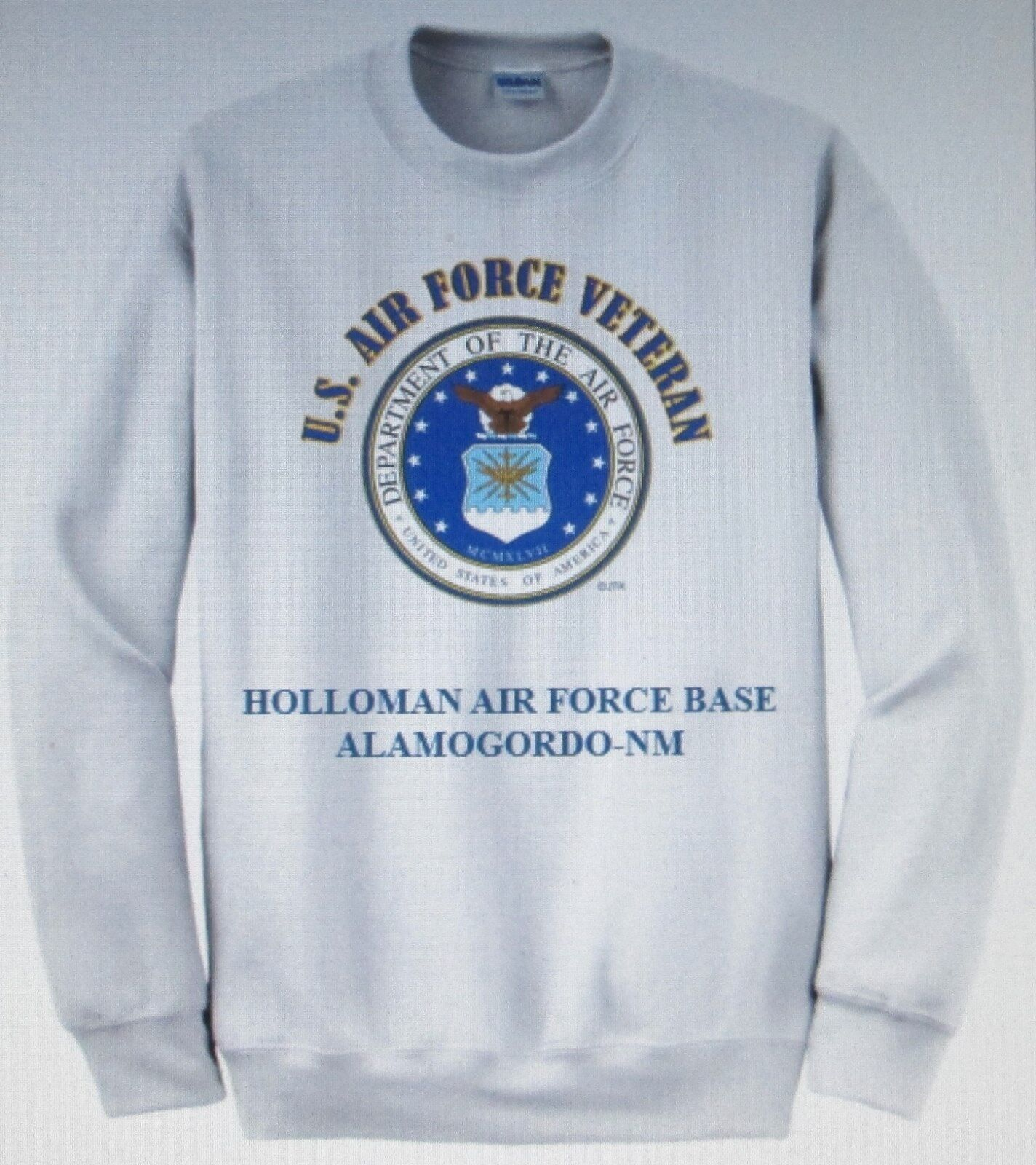 HOLLOMAN AIR FORCE BASE ALAMOGORDO-NM  AIR FORCE EMBLEM VETERAN SWEATSHIRT