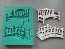Silicone Mould BENCH AND BRIDGE Sugarcraft Cake Decorating Fondant / fimo mold
