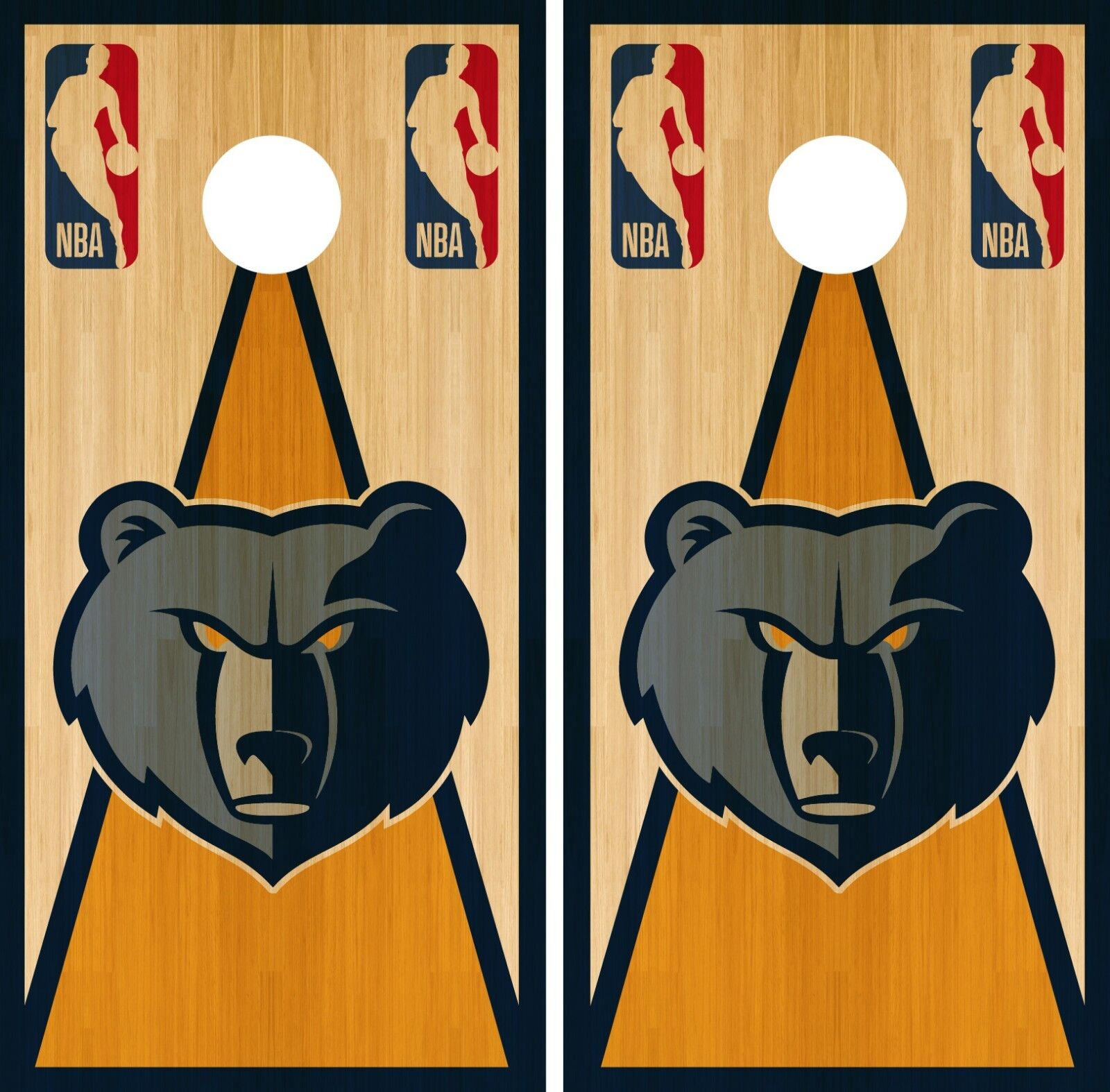 Memphis Grizzlies Cornhole Wrap NBA Vintage Game Skin Set Vinyl Decal CO635