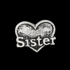 "ANDANTE Silber FLOATING CHARM Medaillon ""Sister"" Herz Schwester Familie #4915"