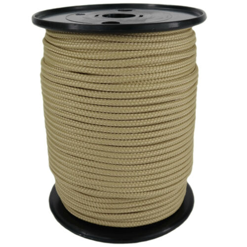 Braided Polypropylene Rope PP 3mm 100m Natural Rope Colour 0144