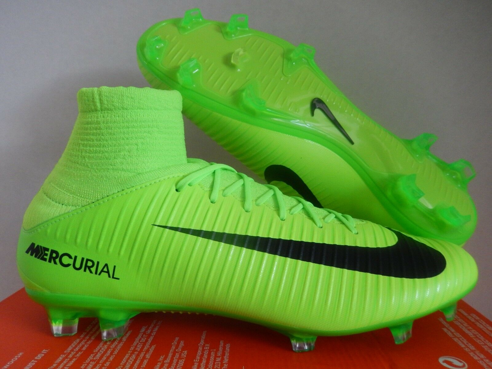 NIKE DF MERCURIAL VELOCE III 3 DF NIKE FG ELECTRIC GREEN-BLACK SZ 10 [831961-303] 21bd93