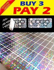 504 Custom Printed Hologram Void Sticker Label Security Warranty Seals 1x04