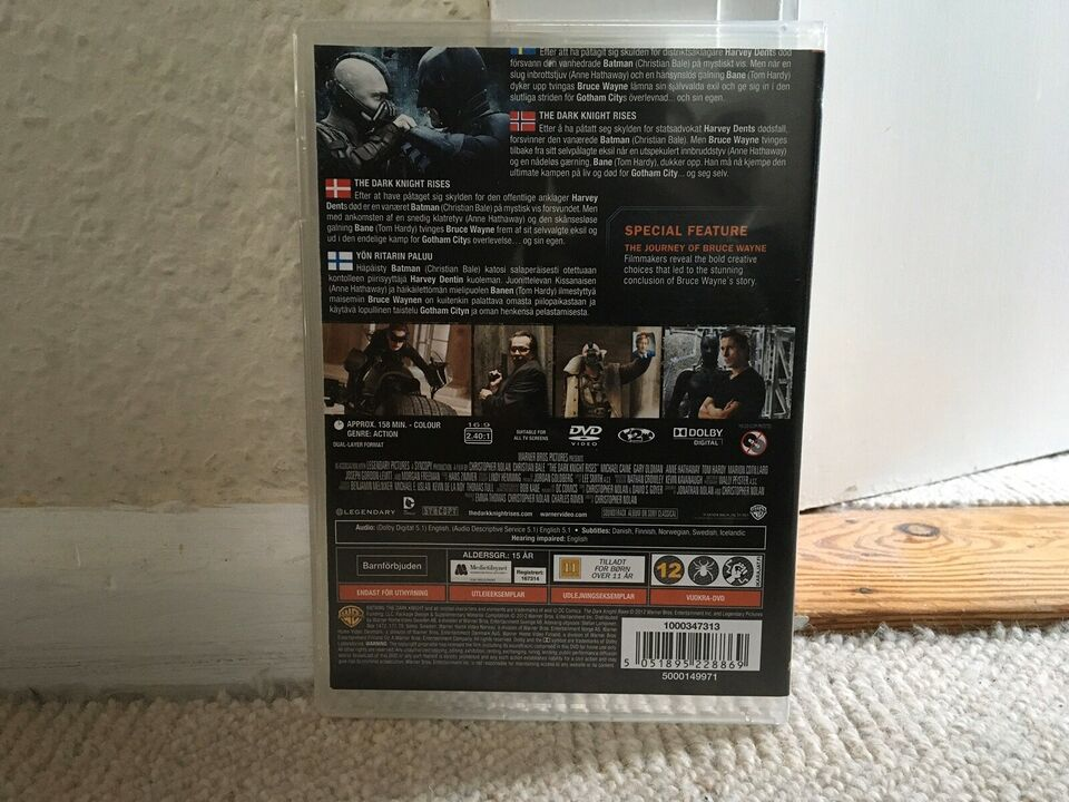 THE DARK KNIGHT RISES, instruktør CHRISTOPHER NOLAN, DVD