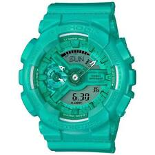 Casio G Shock Vivid Color Blue Teal Green Digital Analog Watch GMAS110VC-3A