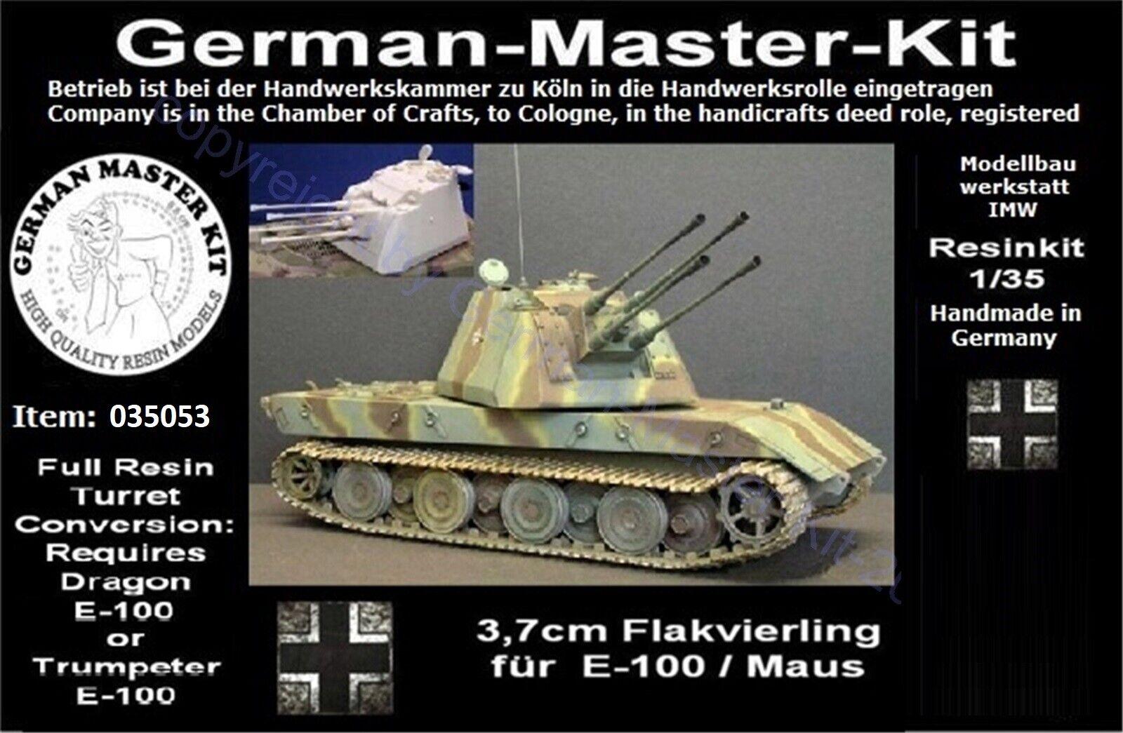 035053, Paper Panzer, 1 35, Conversions, 3,7cm Flakvierling w.Alu-Rohre, Resin