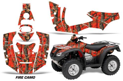 ATV Decal Graphics Kit Quad Wrap For Honda FourTrax Rincon 2006-2018 FIRE CAMO