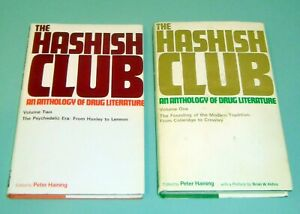 2-Books-HASHISH-CLUB-DRUG-COLERIDGE-CROWLEY-PSYCHEDELIC-LSD-HASHEESH-Tim-Leary