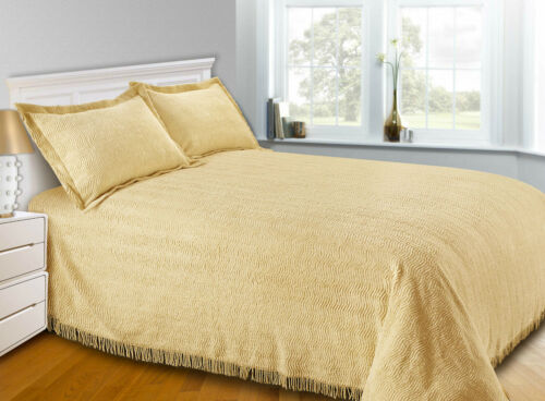 Luxury Candlewick Bedspread Traditional Bed Throw Size Single Double /& King