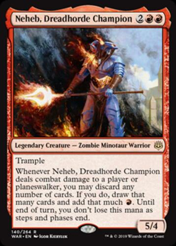 R NM//M Dreadhorde Champion FOIL MTG Magic - Neheb War of the Spark