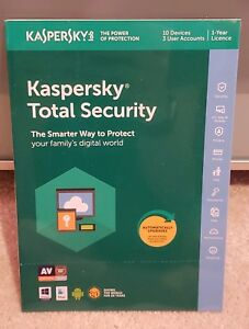 Kaspersky Total Security 2019 - 10 Dispositif D'activation-retail-scellé Rapide Post-afficher Le Titre D'origine