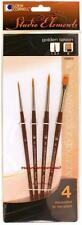 Loew Cornell STUDIO ELEMENTS 1024918 GOLDEN TAKLON Brush Set ROUNDS & SHADER