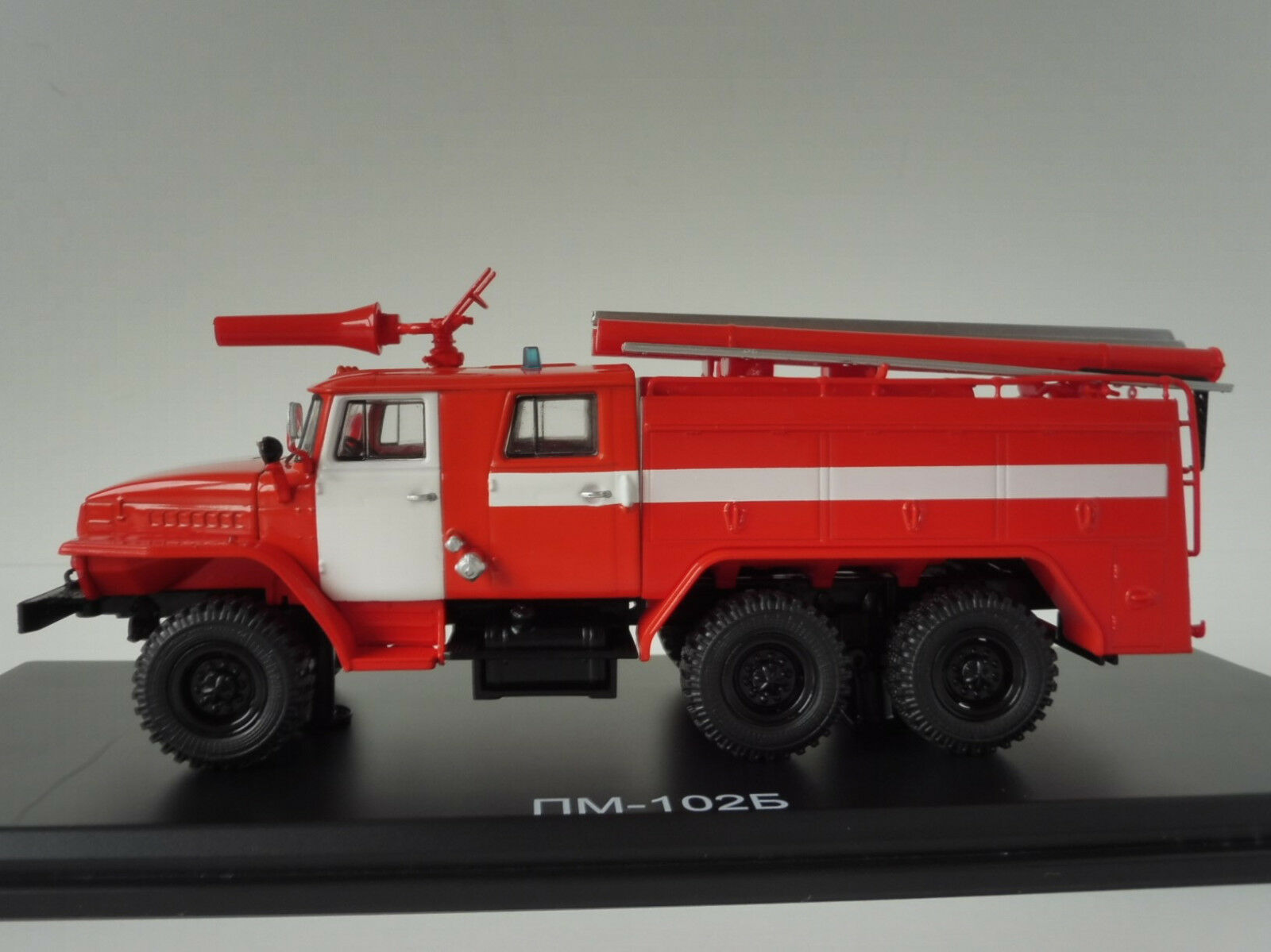 Ural ac-40 43202 pm-102b POMPIERI 1/43 start scale models ssm1232 Fire Engine