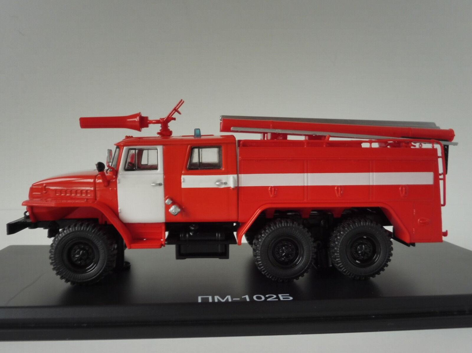 URAL AC-40 43202 PM-102B Feuerwehr 1 43 Start Scale Models SSM1232 Fire Engine