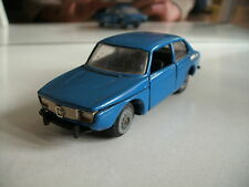 Tekno Saab 99 with plastic black bumpers in the color Blue