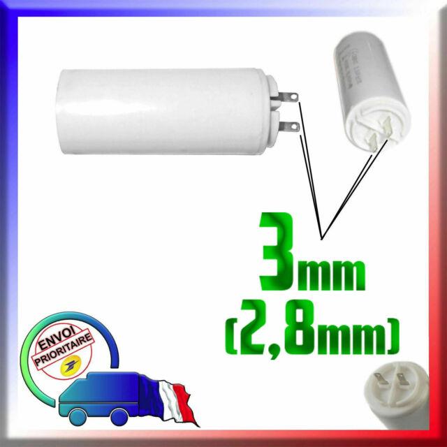 Condensateur de démarrage de 2μF / 2uF à fils pour moteur Nice