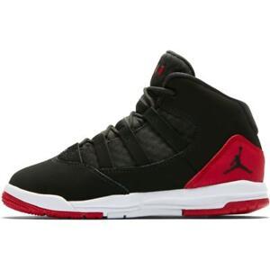 Dettagli su Scarpe Bambino Jordan Max Aura AQ9216 023 NeroRosso Sneakers Alta Sportiva Nuov