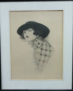 Original-antique-watercolour-portrait-of-a-woman-signed-Alfred-W-Smith-framed