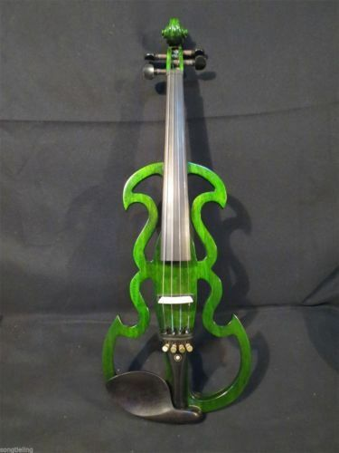 Best Grün Farbe SONG Brand beautiful model 4 4 electric violine,solid wood