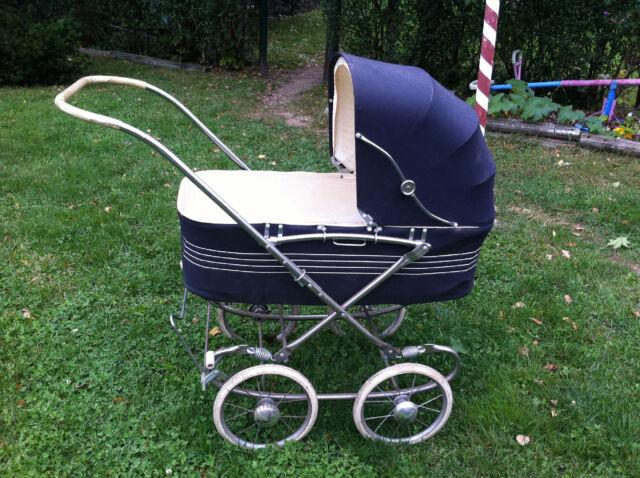 Vtg 50u0027s Pram Wonda Chair Like Baby Carriage Buggy Stroller Large Wheels  Doll