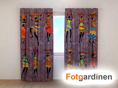 """Fotovorhang 3D Fotodruck Fotogardinen /""""Park/"""" Vorhang mit Motiv auf Maß"""