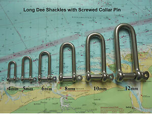 Long-D-Shackle-x-2-Marine-Grade-Stainless-Steel-316-Yachting-Sailing-Chandlery