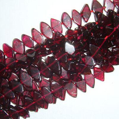 Strand 70+ Red Garnet Approx 4 x 6mm-6 x 10mm Diamond Handcut Beads DW1165