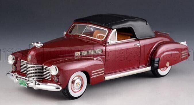 Wonderful  GLM-modelvoiture CADILLAC 62 Convertible 1941 - close top - darkrouge - 1 43  réductions et plus