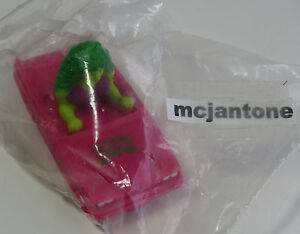 MIP-NO-INSERT-Hardees-1990-Marvel-Super-Heroes-SHE-HULK-PINK-CAR-w-LOGO-CAKE-TOP