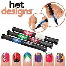 2 in 1 Hot Designs Nail Art Polish Pens (Multicolor)