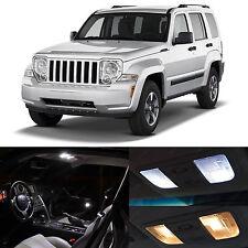 5x White LED Lights Interior Package Kit for 2008-2012 Jeep Liberty KK JAH