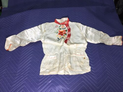 RARE AUTHENTIC Japanese 1950s VINTAGE  Boys Embroi
