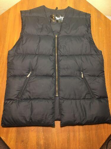 Barbour Men's Down Puffer Nylon Black Vest Size 48