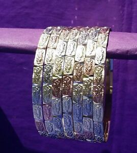 Image Is Loading Gold Layered Semanario Bangles Bracelets Virgin Virgen Guadalupe