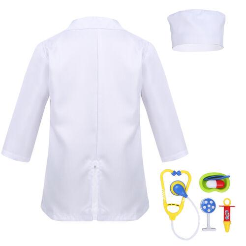 Girls Hospital Doctor Fancy Dress Kids Cosplay Nurse Uniform Occupations Costume