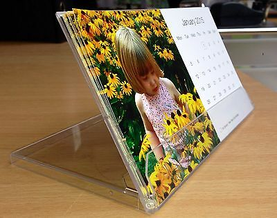 Personalised desk 2018 Photograph stand up Calendar 12 different photos