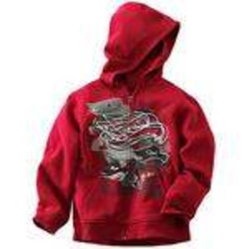 NWT $34-Boys Tony Hawk Red Long Sleeve Zip Up Lined Hoodie Jacket-size 4