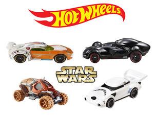 Adroit Hot Wheels Star Wars 4 Set (luke, Tuskenräuber, Darth Vader, Soldat Impérial)