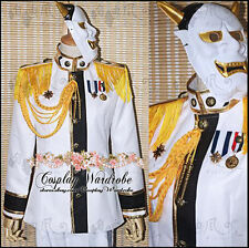Axis Powers Hetalia APH Japan Military Cosplay Costume Mask White Custom Made