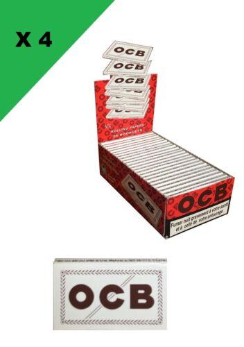 OCB courte double blanche 4 boite de 25 carnets de 100 feuilles