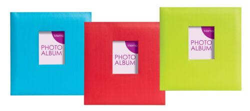 3 Colours 12x Festival Gluebound Slip in Memo Photo Albums Holds 200 Photos 6x4