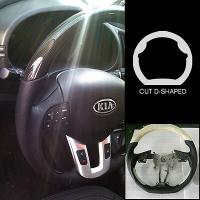 Genuine Leather Carbon Sports Steering Wheel Dcut for HYUNDAI 2011-2017 Veloster