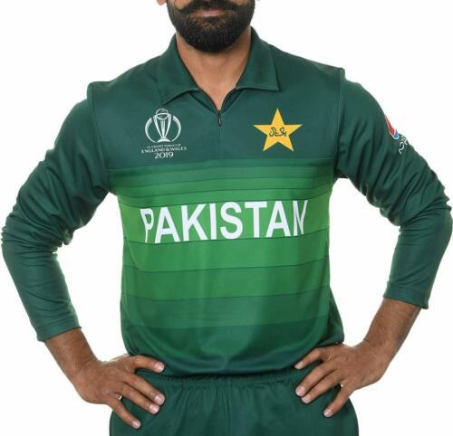 2019 ICC Official Pakistan ODI Cricket World Cup Jersey Long Sleeve Shirt ***New